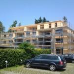 Aufrichten eines 4 geschossigen Mehrfamilienhauses